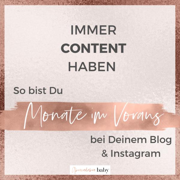 Kontinuierlich Posten: der Nummer 1 Trick für regelmäßige Blogposts & Instagram Content!