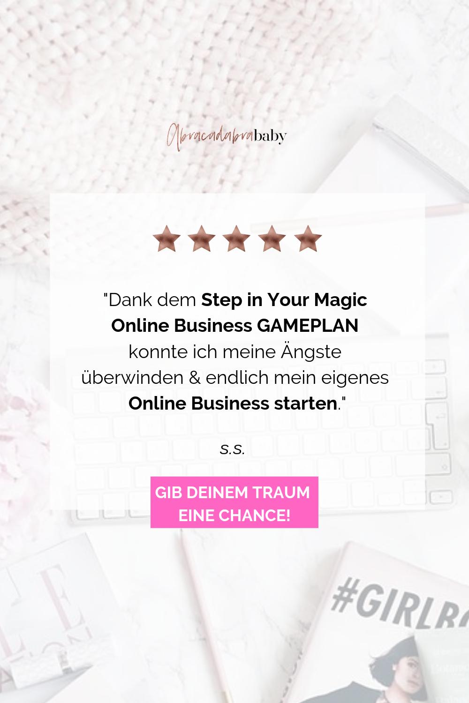 Schritt für Schritt zum eigenen Online Business: mache 2019 zu Deinem Girl Boss Jahr und verdiene Geld indem Du zuhause arbeiten kannst und Deiner Leidenschaft folgst.
