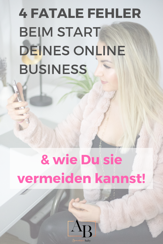 4 fatale Fehler online Business zu starten als girl boss