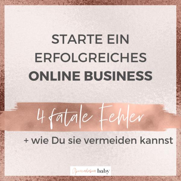 4 fatale Fehler, die Boss Ladys beim Start eines Online Business machen!