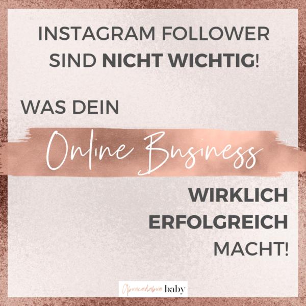 Warum Instagram Follower Dein Online Business nicht erfolgreich machen + mein Geheimtipp!