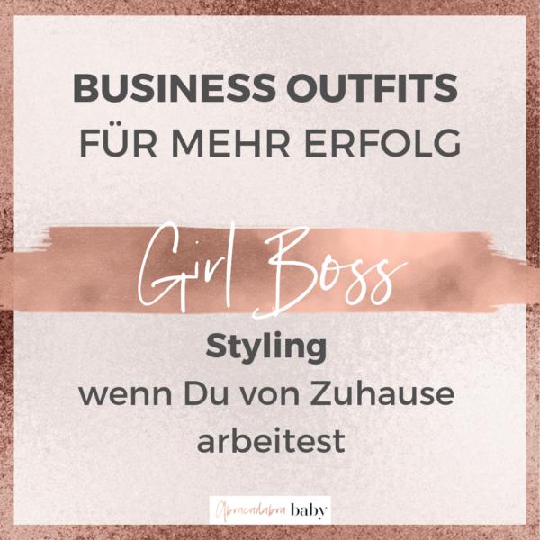 BizErfolg dank Girl Boss Outfit: wie Du von Zuhause arbeiten kannst & Dein Outfit trotzdem nach Erfolg aussiehst!