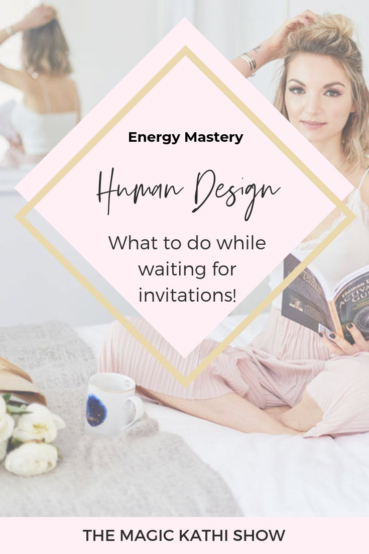 What does waiting for an invitation even mean in Human Design? Does it mean you can't do anything in order to move forward? If you are a projector, manifesting generator or generator, you want to wait for an invitation or wait to respond. In this video I explain how I handle that in the most soul nourishing way. Click and enjoy :-) #humandesign #humandesignsystem #projectors #generators #manifestinggenerators making decisions