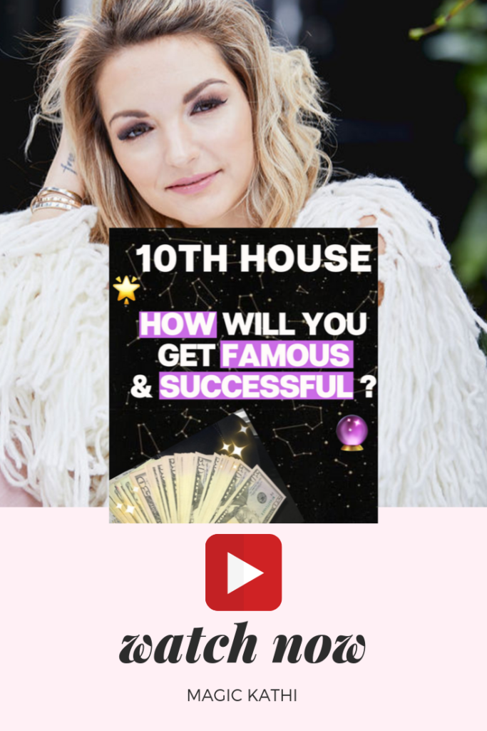 The 10th house in your birth chart represents your CAREER, SOCIAL STATUS, FAME & LEGACY. With the MIDHEAVEN on the 10th house cusp, you can figure out which career path your soul chose for this lifetime. Join me in this video to dive even deeper into your unique success strategy!