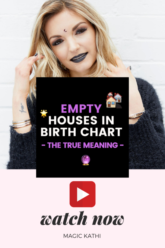 "What if you have EMPTY HOUSES in your birth chart? Does it mean you don't have this area or even the energy of the zodiac sign in the house? What's going on in this house? Learn the true meaning and how you can work with ""empty"" houses with me!"