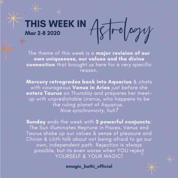 This week in Astrology: Venus enters Taurus, Sun conjunct Neptune in Pisces, Lilith conjunct Chiron in Aries