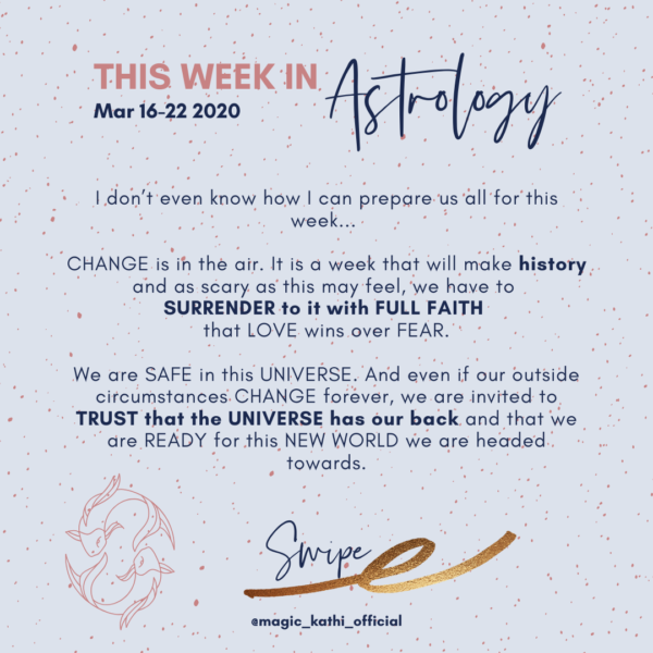 This Week in Astrology: Astrology of Covid-19, Sun enters Aries + Saturn moves into Aquarius!