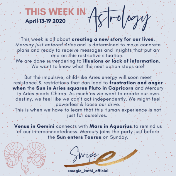 This Week in Astrology: Creating a New Story with Taurus Season 2020, Mercury in Aries + Venus in Gemini