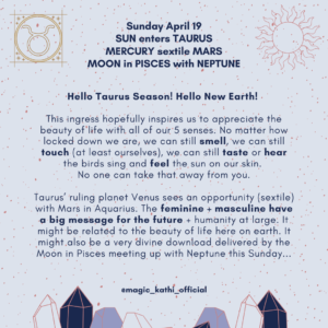 Taurus Season 2020, Mercury in Aries, Sun square Pluto and Venus in Gemini