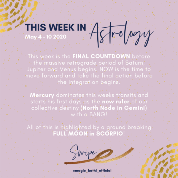 This Week in Astrology: New Destiny with the North Node in Gemini and a powerful Full Moon in Scorpio